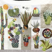 Andrea Bacal, Cactus Quilt for Doug