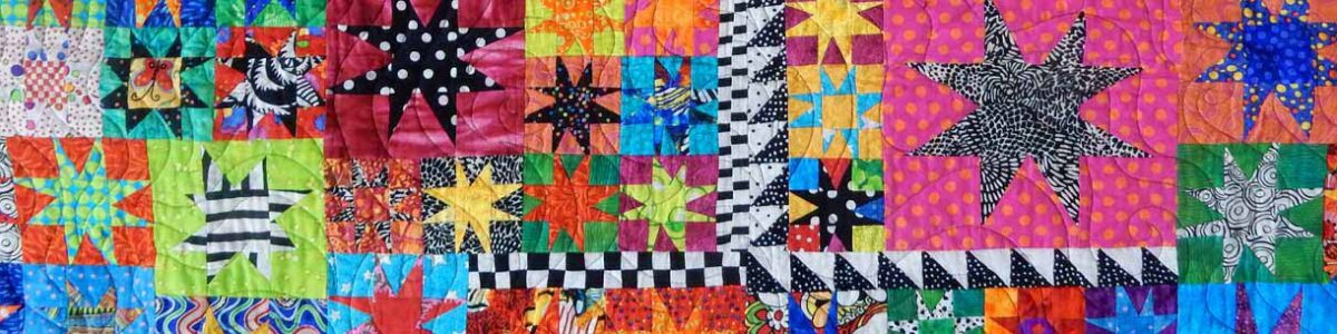 Brightly Colored Star Quilt